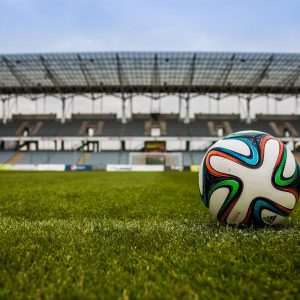 Soccer Ball in a Stadium
